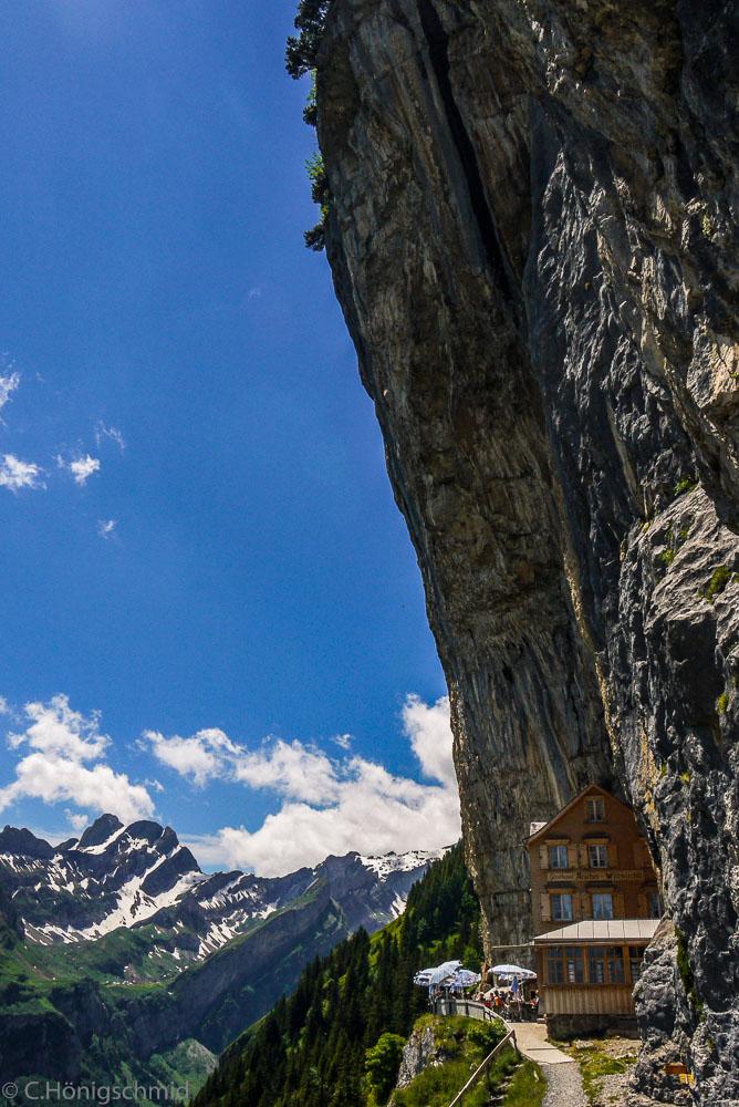 Berggastaus Aescher-Wildkirchli, Appenzell, Schweiz